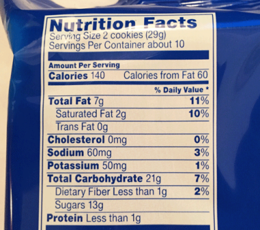 oreo-nutritional