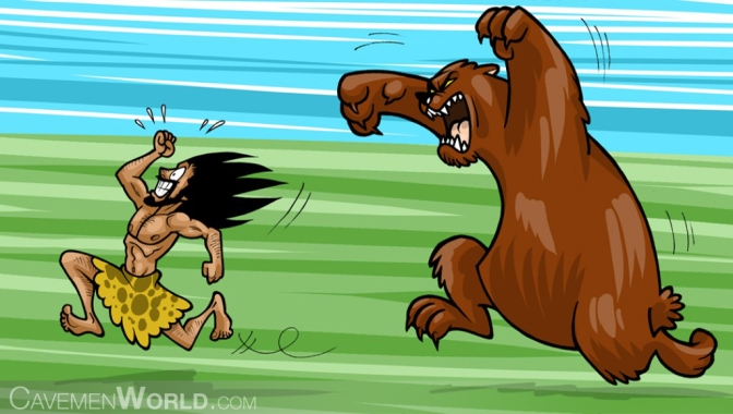 adrenaline-the-bodys-kick-starter-a-huge-bear-is-attacking-a-caveman